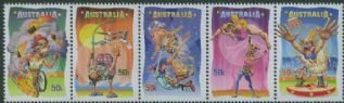 AUS SG2818a Circus: Under the Big Top strip of 5
